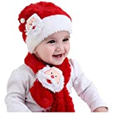 Children's Christmas hat + Santa scarf Christmas
