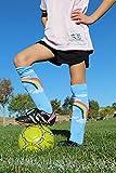 MadSportsStuff Neon Rainbow Clouds OTC Socks