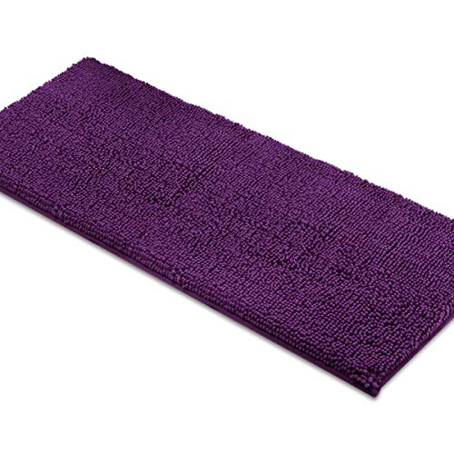 MAYSHINE Bath mat Runners for Bathroom Rugs,Long Floor mats,Extra Soft, Absorbent, Thickening Shaggy Microfiber,Machine-Washable, Perfect for Doormats,Tub, Shower (27.5x47 inches, Plum)