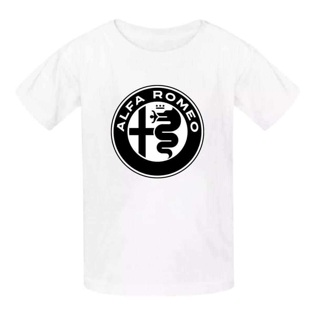 Yshoqq Kids//Youth T-Shirt Al-FA Ro-meo Logo Casual Short Sleeve Tees
