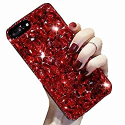 Full Red Rhinestone With TPU Mobile Case