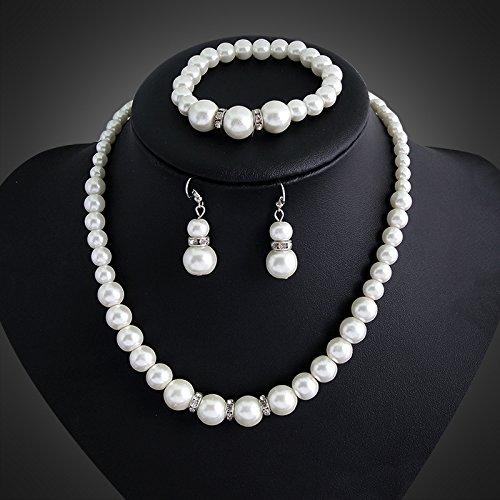 Buy vintage silver bead necklaces