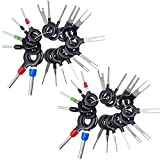 36pcs Pins Removal Tool Kit Car Terminal Electrical Wiring Crimp Connectors Pin Extractor Key Extractor Repair Hand Tool Set Puller Plug key
