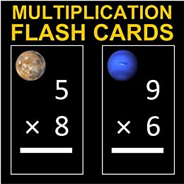 Far Out Multiplication Flash Cards 1-12 (Decorated with ...