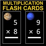 Far Out Multiplication Flash Cards 1-12 (Decorated with Solar System Photos)