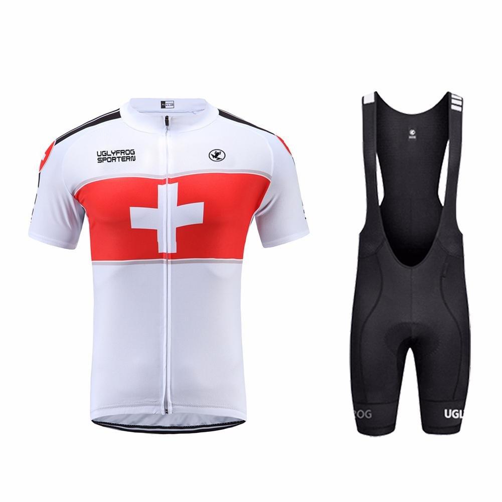 Uglyfrog Sommer Männer Radfahren Trikots & Shirts Sportbekleidung Herren Kurzarm Fahrradtrikot Fahrradbekleidung Atmungsaktive Schnell Trocknen Stoff