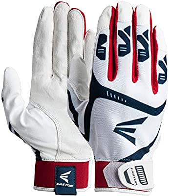 Adult and Youth Pair Neoprene Strap EASTON Gametime Batting Glove Series Flexible 4 Way Stretch Mesh Back Smooth Goatskin Palm 2021 Baseball Softball Extra Durable Synthetic Thumb