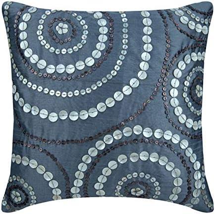 The HomeCentric Handmade Blue Euro Pillowcases 26×26 inch 65×65 cm