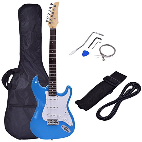 Costzon 39' Electric Guitar, Full Size Guitar with Case and Accessories Pack for Beginner Starter (Blue)