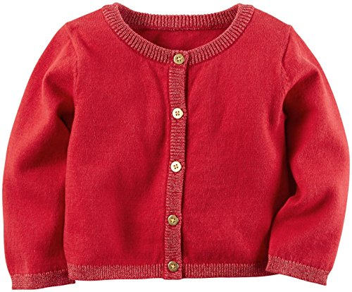 Carter's Baby Girls Cardigans, Red, 3M