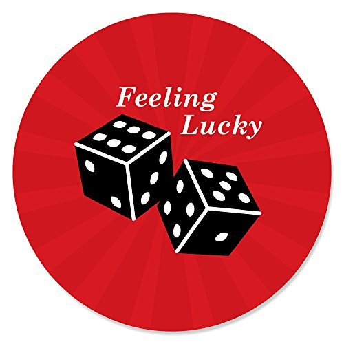 Big Dot of Happiness Las Vegas - Casino Party Circle Sticker Labels - 24 -