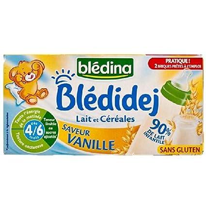 Bledina Desayuno Leche y Cereales vainilla Sabor (Sin Gluten ...