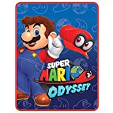 super mario sleeping bag - Super Mario Odyssey World Plush Throw Blanket - 46 in. x 60 in.