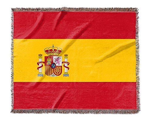 Canvas on Demand Woven Blanket - Spain Flag by Canvas on Demand
