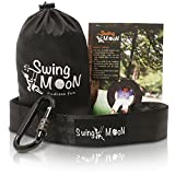 Heavy Duty Tree Swing Hanging Kit - 1000 lbs. Single 6 ft. Strap with Heavy Duty Carabiner - Easy to install - for Swing Chair, Spinner, Tire, Disc, Web, Hammock Swings - Safe For Toddlers and Kids
