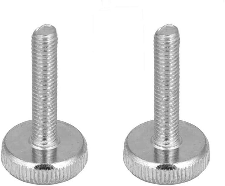 M6 Thumb Screws Zinc Plated Carbon Steel Flat Knurled Head Bolts Sturdy Durable Accessories(M630(6pcs))