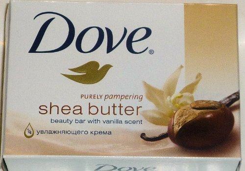 Dove Purely Pampering Shea Butter Beauty Bar with Vanilla Scent Soap 4.75 Oz / 135 Gr (Pack of 12 Bars)