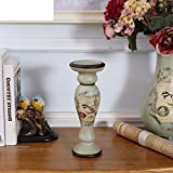 American rustic ceramic candlestick ornaments household living room accessories decoration-B