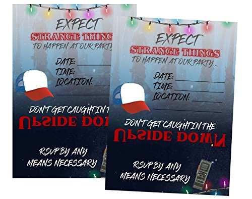 Stranger Kids TV Party Supply Strange Things Themed Invitations Envelopes by Silly Goose Gifts