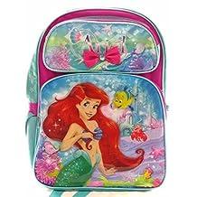 "Backpack - Disney - The Little Mermaid Ariel 3D-Bow 16"" New 684679"