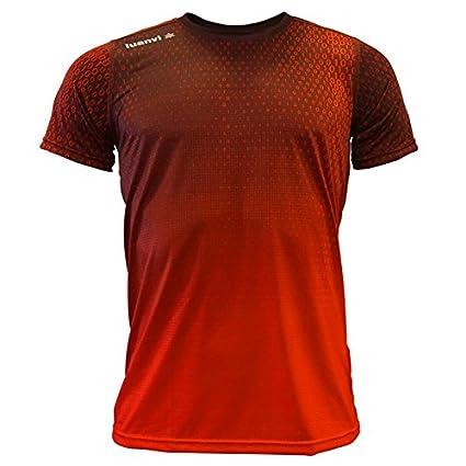 Luanvi Edición Limitada Camiseta técnica Binary, Hombre, Rojo, 2XL (60-75cm