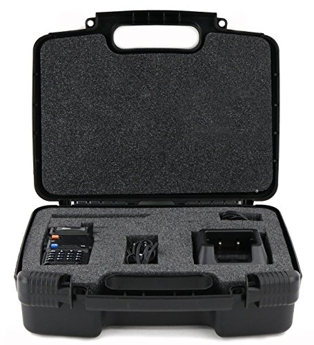 Life Made Better Storage Organizer - Compatible with BaoFeng BF-F8HP 8-Watt Dual Band Two-Way Radio (136-174MHz VHF & 400-520MHz UHF) - Durable Carrying Case - Black - Vertex Mold
