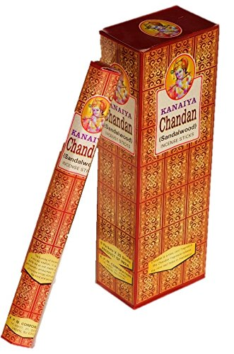 Sandalwood Incense Sticks From India - 120 Sticks - Made From Natural Scented Oil - Kanaiya Brand By Tikkalife