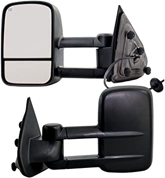 New Right Side Black Power Trailer Tow Mirror for Chevrolet//GMC Trucks 2014-2017