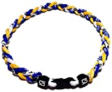 "Sport Ropes 3 Rope Titanium Necklace (Blue/Yellow/White, 18"")"