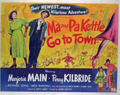Ma And Pa Kettle Go To Town Original Movie Poster 22X28