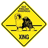 Old English Sheepdog Xing caution Crossing Sign dog Gift