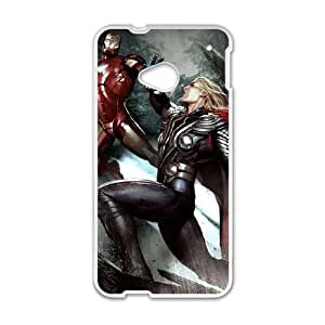 HTC One M7 Cell Phone Case White Iron Man Phone Case Cover Protective Personalized XPDSUNTR33858