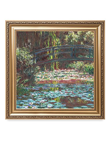 1900's Art (DecorArts - Water Lily Pond 1900, Claude Monet Art Reproduction. Giclee Print& Museum Quality Framed Art for Wall Decor. Framed Size: 30x30