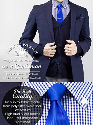WANDM Men's Slim Skinny Tie Necktie Width 2.4 inches Washable Plain Solid Color