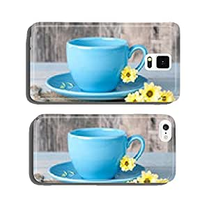 Cup with flowers cell phone cover case Samsung S6