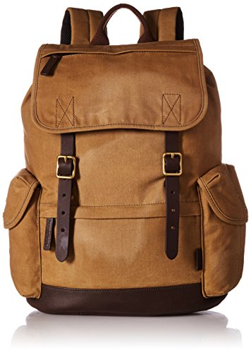 Rucksack Trim Brown Men's Defender Backpack Fossil Leather twI7qR