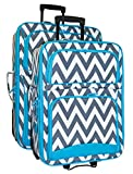 Ever Moda Chevron 2-Piece Luggage Set