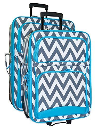 Ever Moda Chevron 2-Piece Luggage Set by Ever Moda