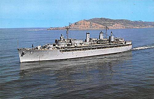 Military Battleship Postcard, Old Vintage Antique Military Ship Post Card USS Dixie, Destroyer Tender Unused