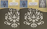 Deco Art Americana Decor Stencil, Brocade Motif (2 Pack)