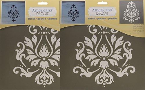 Deco Art Americana Decor Stencil, Brocade Motif (2 Pack) by DecoArt
