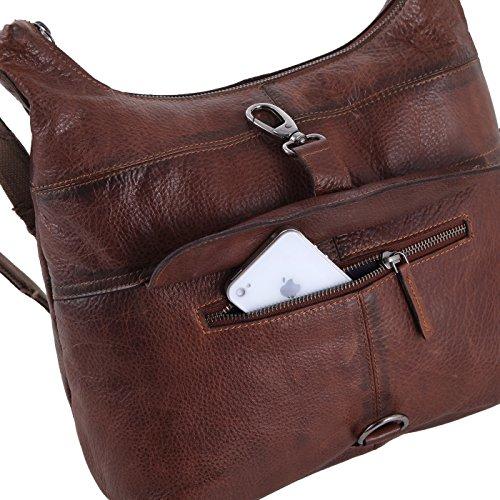 1ca7949646621 Rada Nature Umhängetasche  La Spezia  echt Leder Handtasche in  verschiedenen Farben (grau)  Amazon.de  Schuhe   Handtaschen