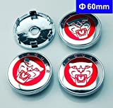 4pcs W204 60mm Car Emblem Badge Wheel Hub Caps Centre Cover Red JAGUAR Black XF XJ XJS XK S-TYPE X-TYPE