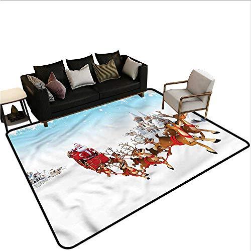 Santa,Bathroom Floor mats 36