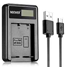Neewer® NW-W126 USB Battery Charger for Fujifilm NP-W126 and Fuji FinePix HS30EXR, HS33EXR, HS50EXR, X-A1, X-E1, X-E2, X-M1, X-Pro1, X-T1, X-Pro2