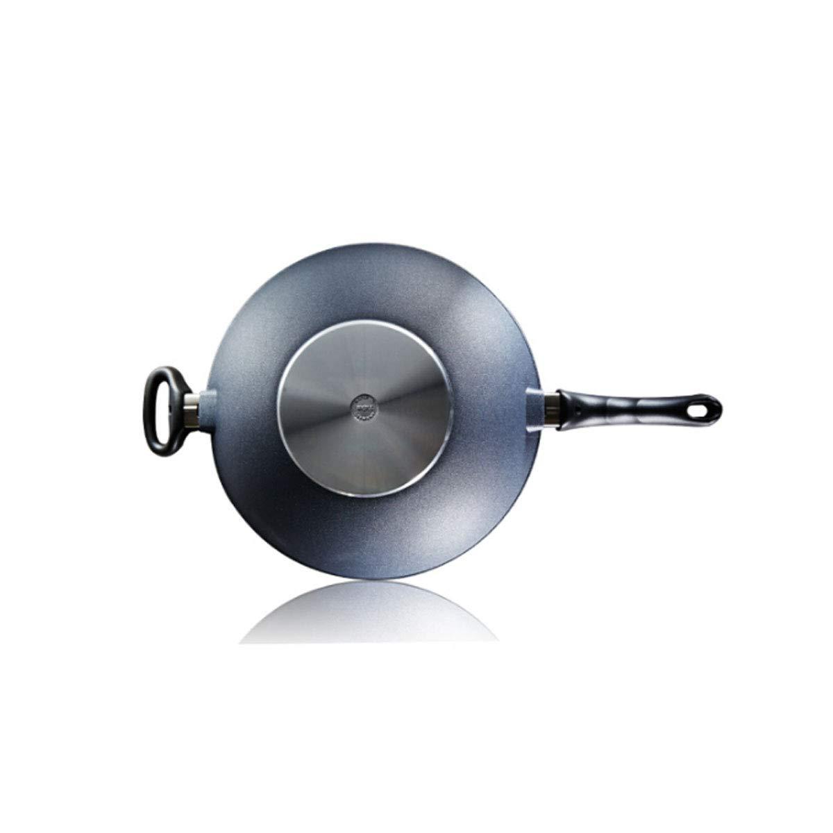 鍋、キッチンの標準12.8インチ鍋、平底鍋、セラミックオーブン、電磁調理器、ガスレンジが使用可能、スカイブルー (Color : Blue)  Blue B07QT81SCC