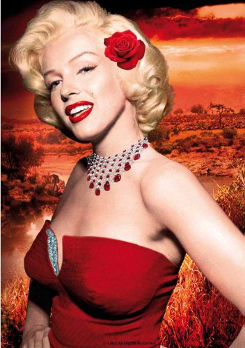 - EMPIRE Merchandising 542953 Marilyn Monroe Red Dress Film Maxi-Poster Cinema Movie Photo Poster 68 x 98 cm