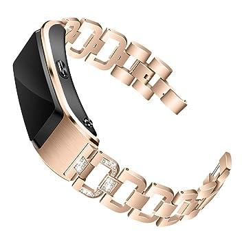 12shage Correa para Huawei B5 Smartwatch, Pulsera de Acero ...