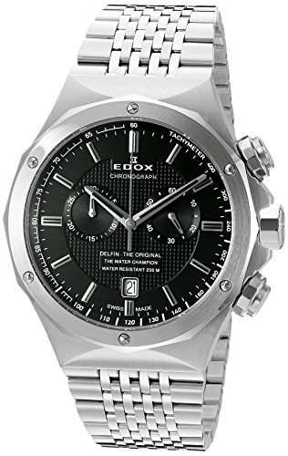 Edox-Mens-10108-3-NIN-Delfin-Analog-Display-Swiss-Quartz-Silver-Watch