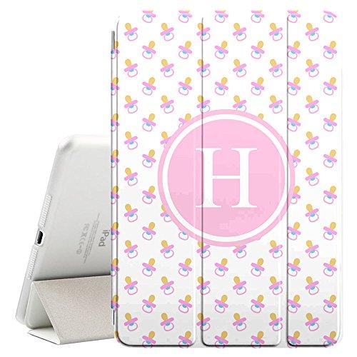 [H–Inicial] [Apple iPad Pro 32,8cm pulgadas] [Nombre Monogram Folio caso] con Auto Sleep/Wake Función [Patrón de...